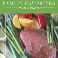 Family Favorites Menu Plans - Monthly Plan