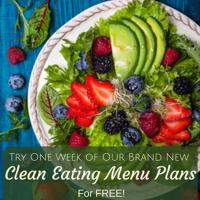 4 Week Clean Eating Menu Plan