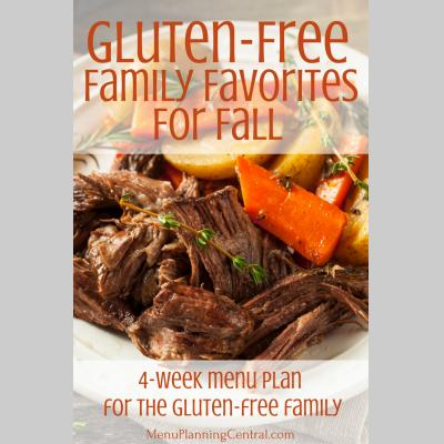 Gluten-Free Menu Plan for Fall: $9.95
