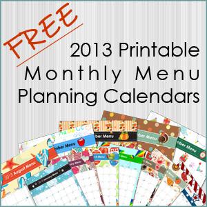 Printable Menu Planning Calendar