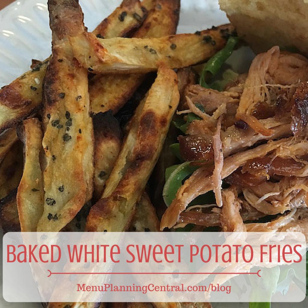 Baked White Sweet Potato Fries
