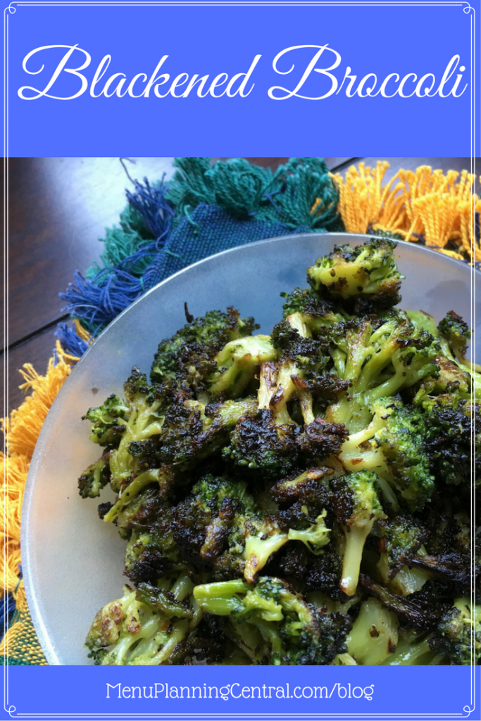 Blackened Broccoli side dish