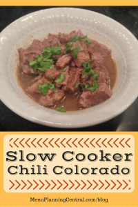 Slow Cooker Chili Colorado