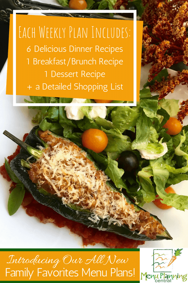 The All New Family Favorites Menu Plans by Menu Planning Central