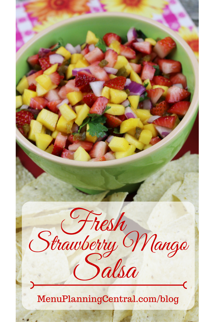 Fresh Strawberry Mango Salsa