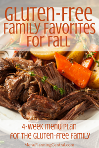 Gluten-Free Family Favorites for Fall Menu Plan
