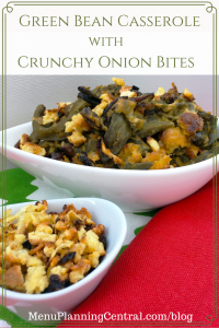 Green Bean Casserole with Crunchy Onion Bites