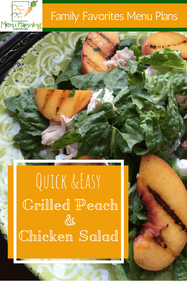 Grilled Peach & Rotisserie Chicken Salad
