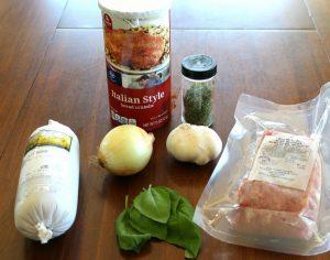 Slow Cooker Italian Meatballs ingredients