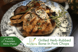 Grilled Herb-Rubbed Bone-In Pork Chops