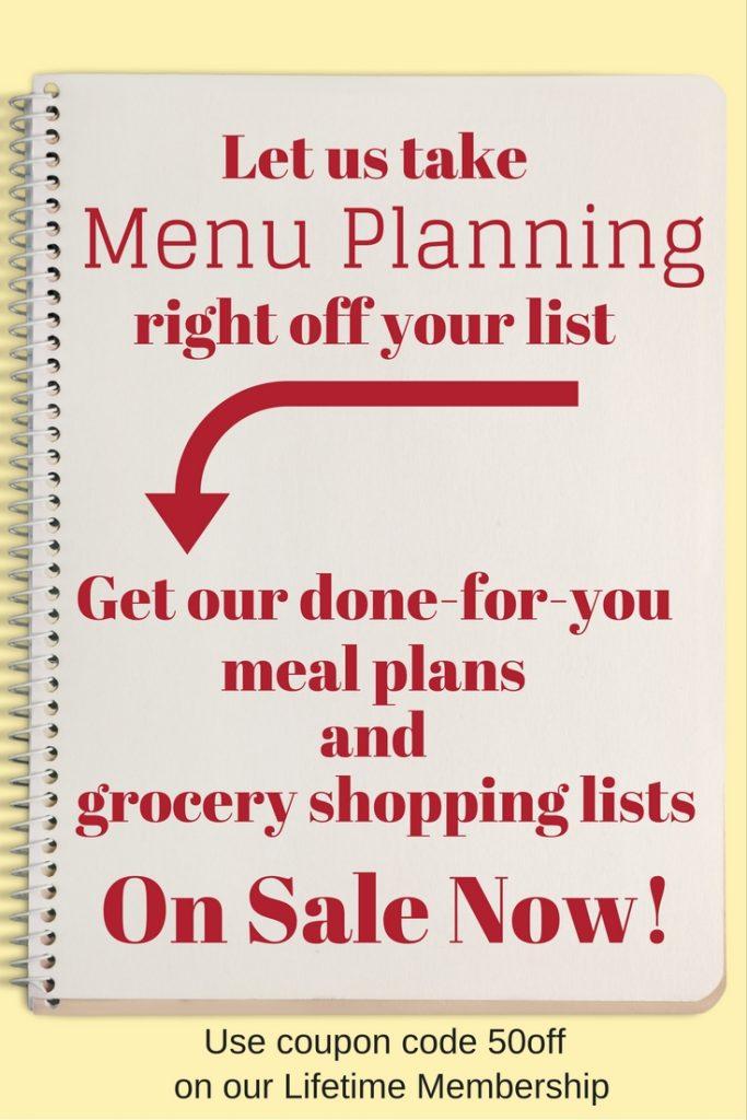 Menu Planning Central Sale!