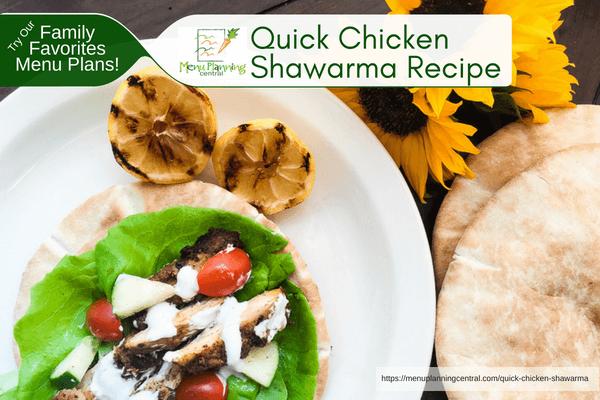 Quick Chicken Shawarma Recipe