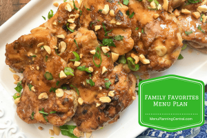 Family Favorites Menu Plan