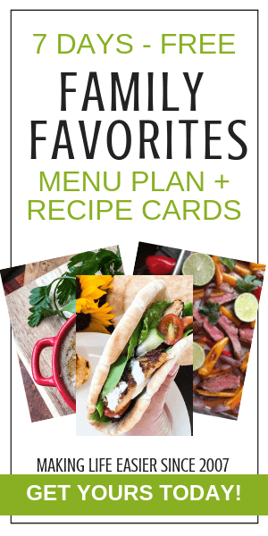 Try Family Favorites Menu Plans for 7 Days - Free