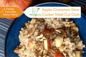 Apple-Cinnamon Slow Cooker Steel Cut Oats