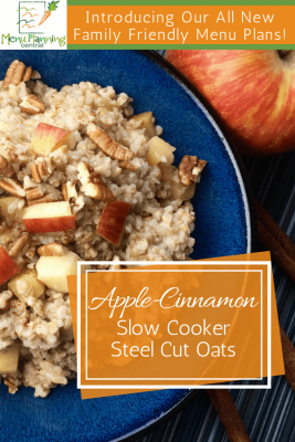 Apple-Cinnamon Steel Cut Oats