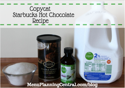 starbucks hot cocoa ingredients
