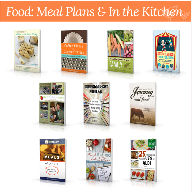 meal plans and more homemaking bundle