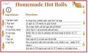 Homemade Hot Rolls