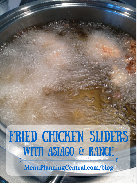 Fried Chicken Sliders with Asiago & Ranch