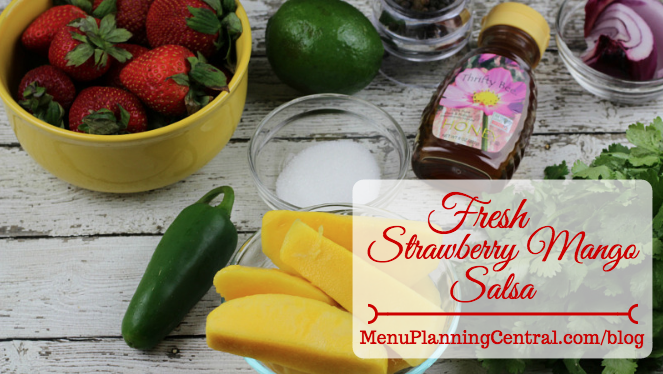 Fresh Strawberry Mango Salsa