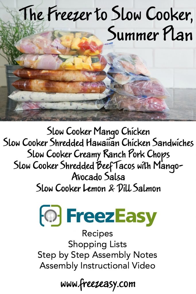 Summer Freezer-to-Slow-Cooker Meal plans!