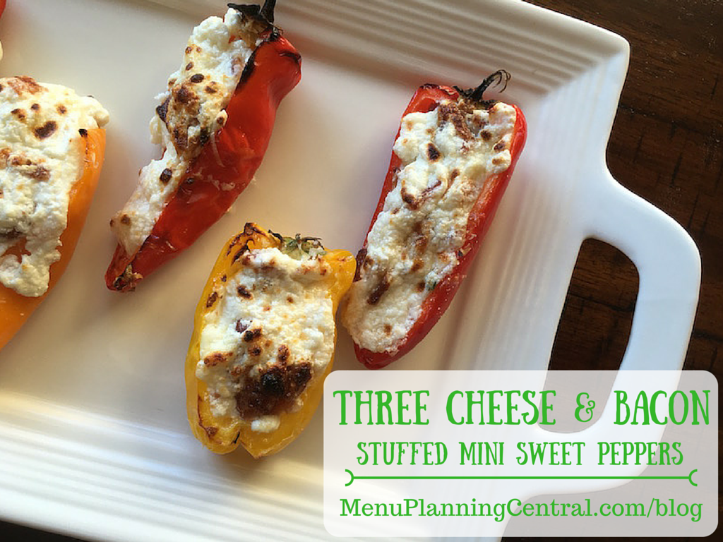 Three Cheese & Bacon Stuffed Mini Sweet Peppers